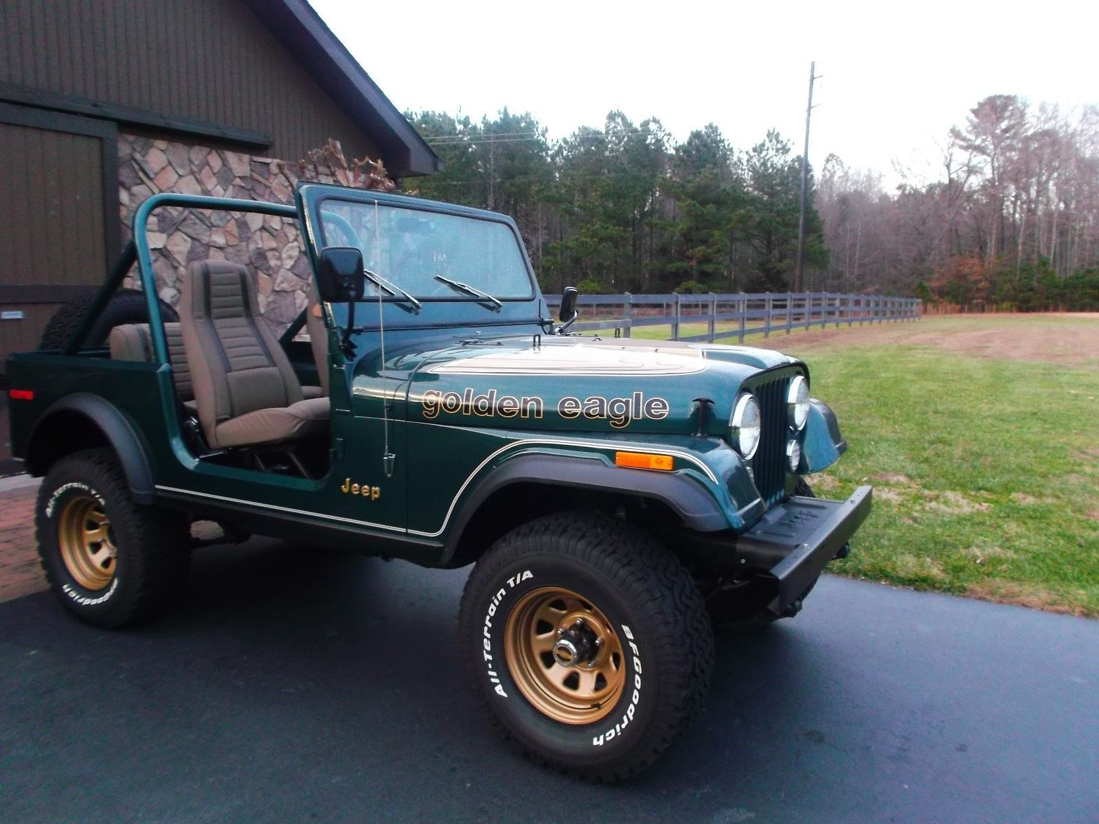 Ebay 1980 Jeep Cj Golden Eagle 1980 Jeep Cj 7 Golden Eagle 47k