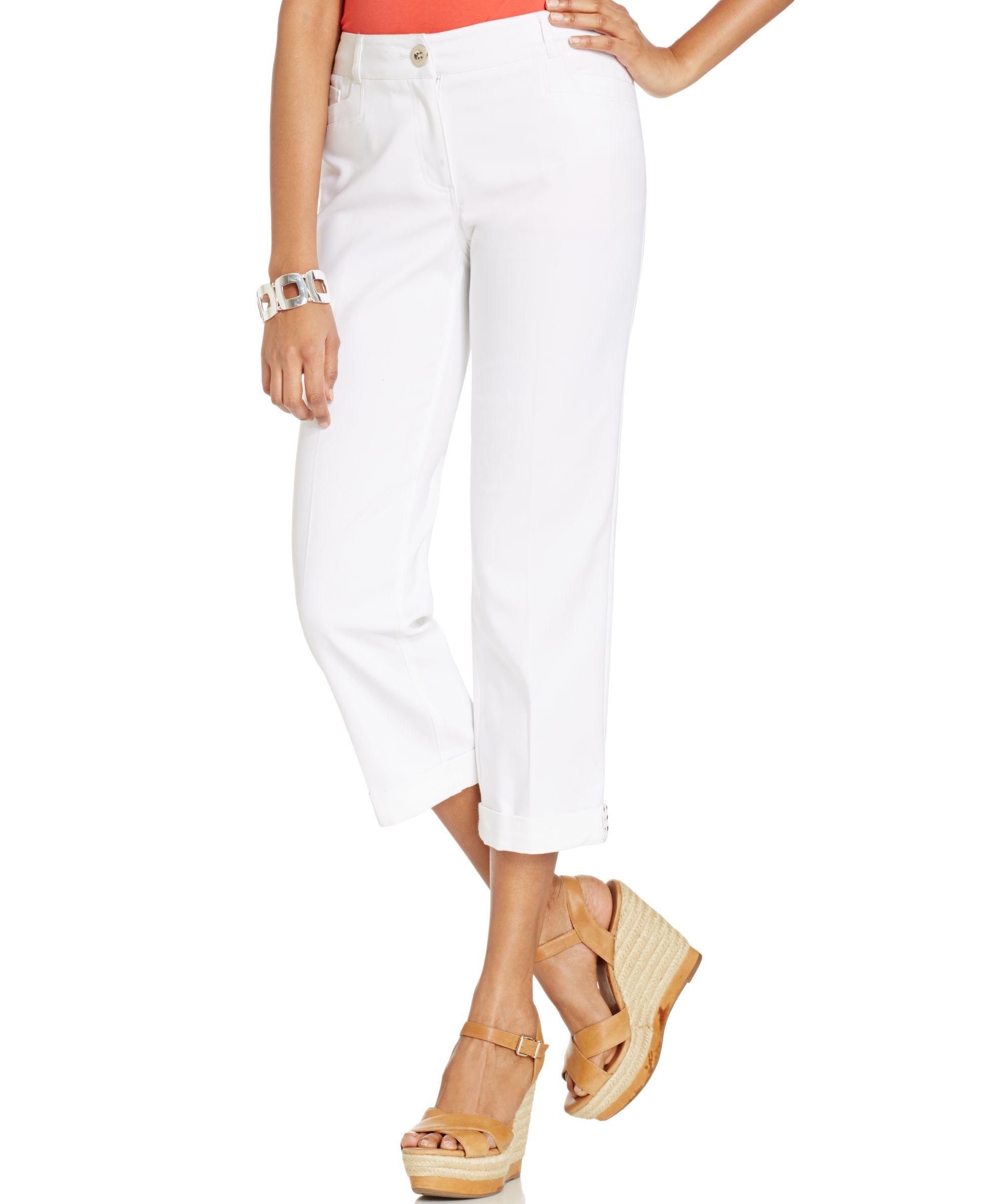 Style&co. Studded-Hem Capri Pants
