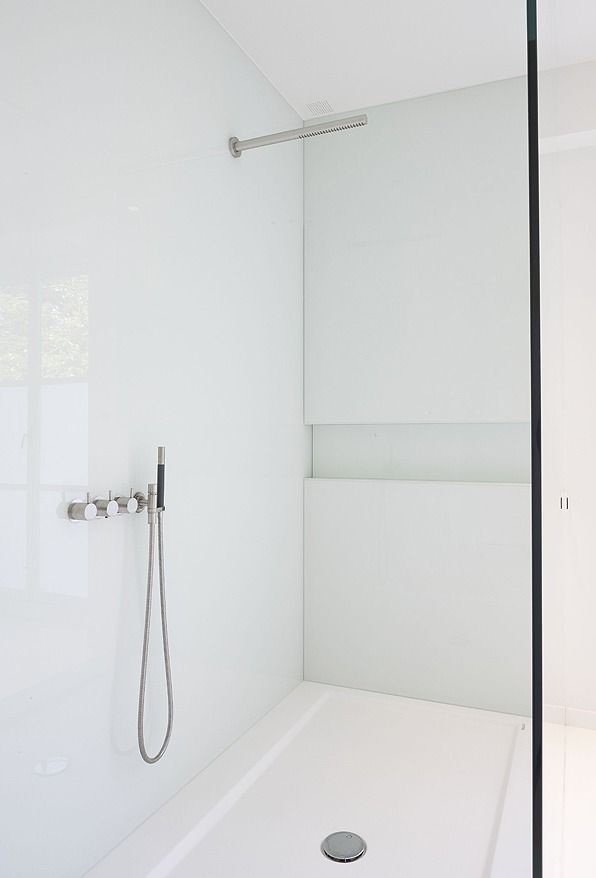 Minimal white shower room by Minus. | Space | Pinterest ...