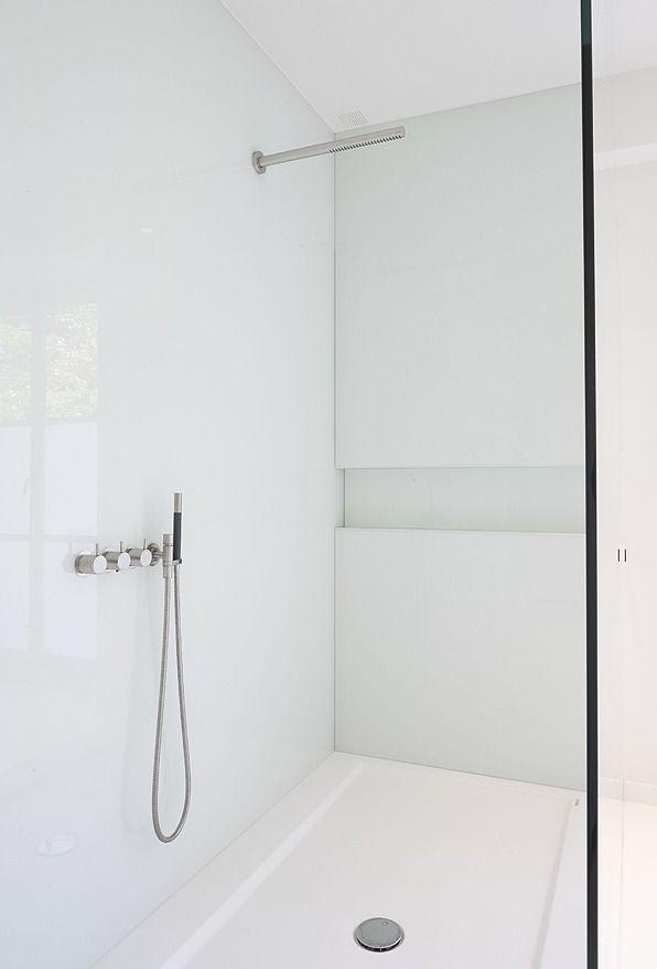 Minimal white shower room by Minus. | Space | Pinterest ...