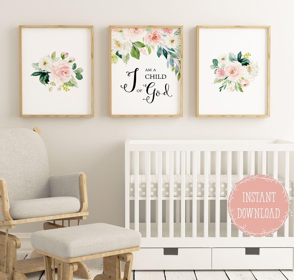 I Am A Child Of God Bible Verse Wall Art Christian Wall Art Etsy Baby Girl Nursery Decor Nursery Wall Decor Girl Baby Girl Wall Art