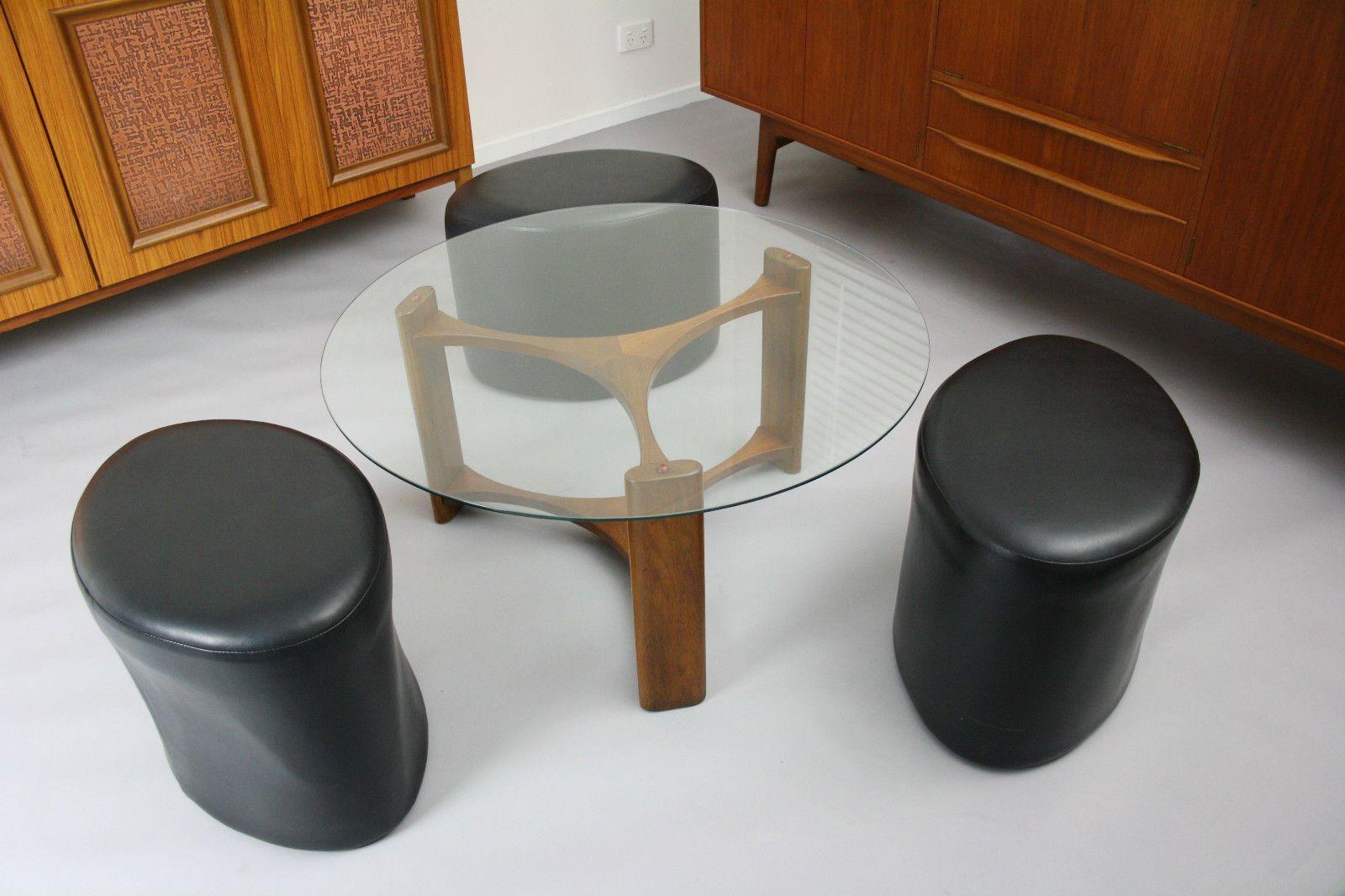 Perfect MID Century TH Brown Coffee Table Stools Retro Vintage Teak Fondue Danish  ERA In Narre Warren