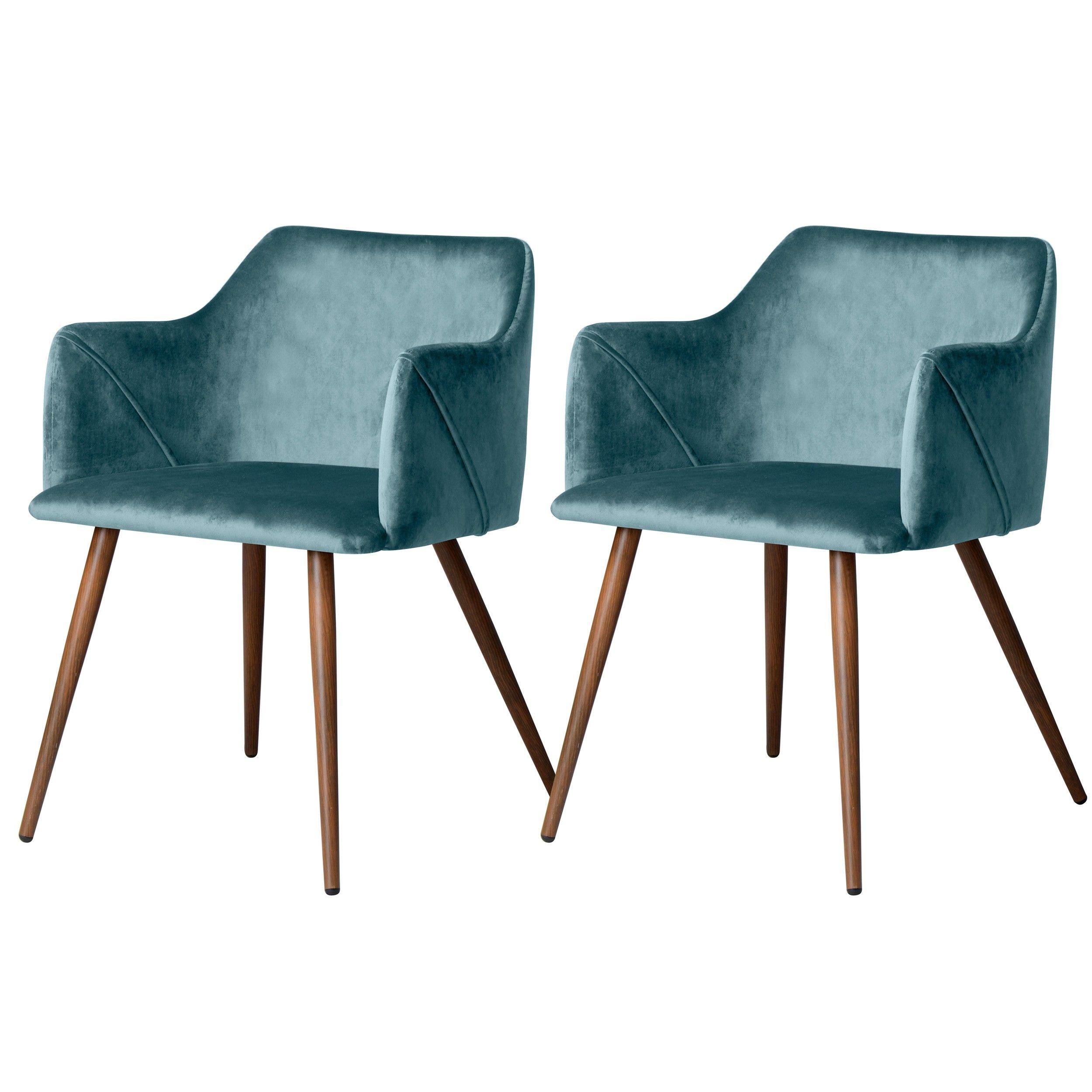 Chaise En Velours Daisy Bleue Lot De 2 Adoptez Les Chaises En Velours Daisy Bleues Design Rdv Deco Chaise Design Chaises Rembourrees But Canape