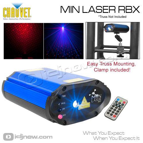 Chauvet Lighting Min Laser Rbx Red Blue Mini Dj Equipment Dj Dj Dj Rbx