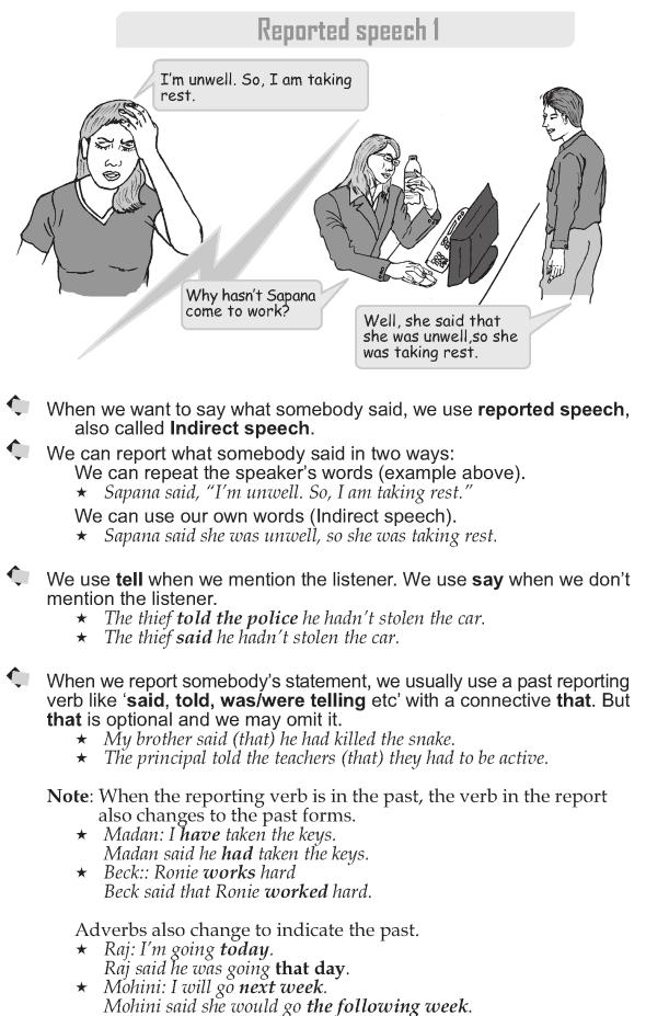 Grade 9 Grammar Lesson 39 Reported speech 1 (1