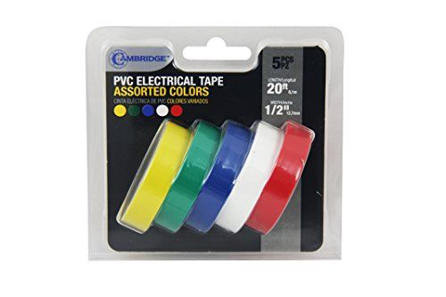 6 Colored Tape Vinyl Electrical Tapepvc Electrical Wire Insulating Tape50ft Length 16mm Wide Click Image To Review M Electrical Tape Colored Tape Electricity