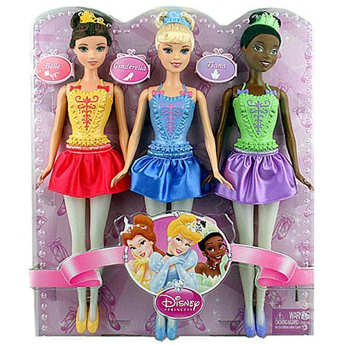 Disney Princess Ballerina Set Of 3 Belle Cinderella