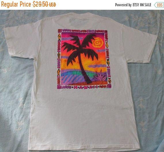 11dfddda9d676 Vintage Hawaii T Shirt by Stedman Super Hi Cru Made in USA Rare ...