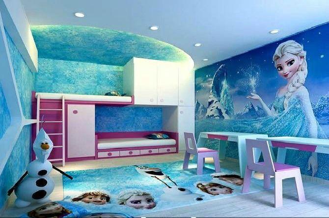 15 Desain kamar anak perempuan Frozen, bisa dilihat di http://dsignproject.blogspot.com