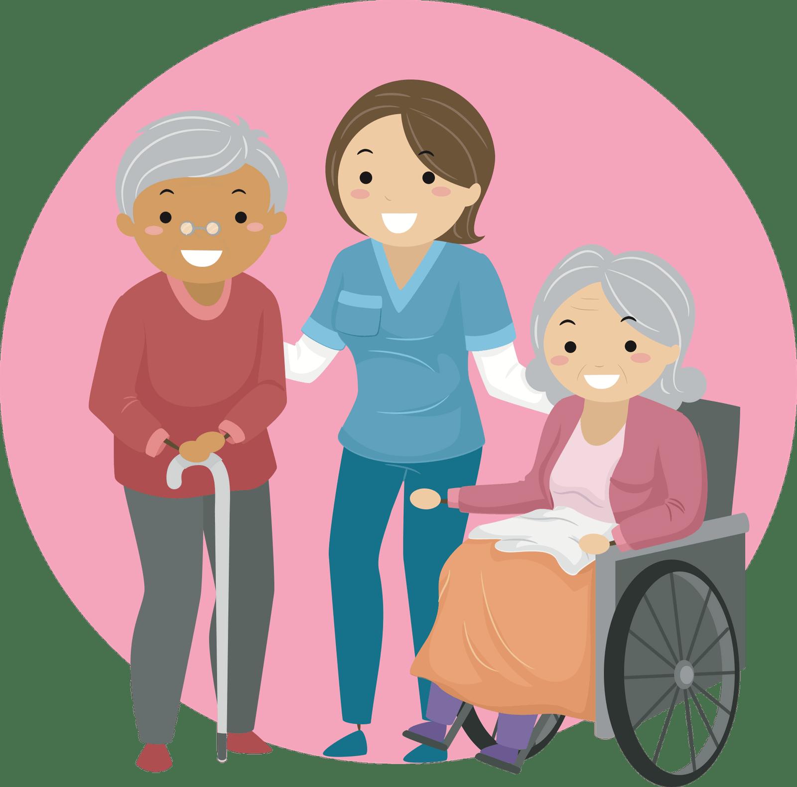 Project Big Life Caregiver Easy Cartoon Characters Elderly