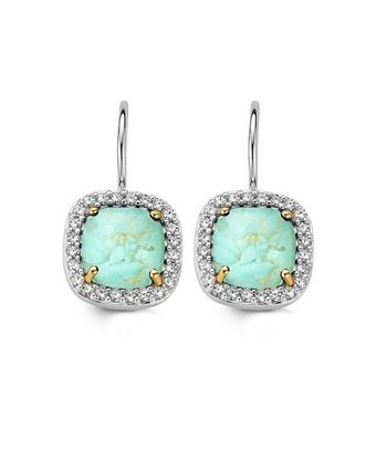 177d7170a0e Ti Sento 7555 Dusted Aqua Gold Earrings Available at: www.always-forever.com