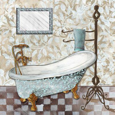 Vasche Da Bagno Arte Contemporanea Poster Con Cornice Su