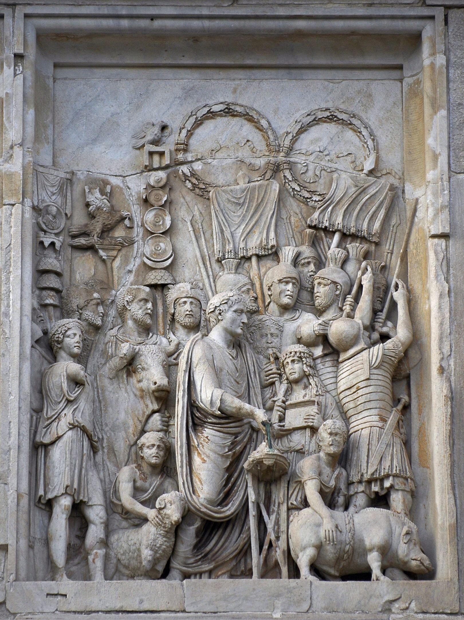 Marcus aurelius panel relief ad lustratio