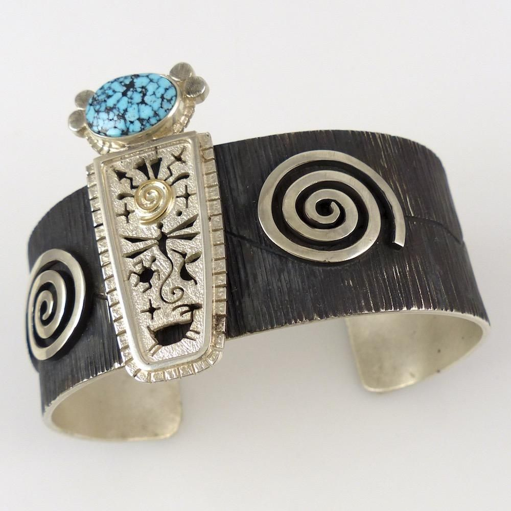 Turquoise Corn Maiden Cuff by Myron Panteah - Garland's Indian Jewelry