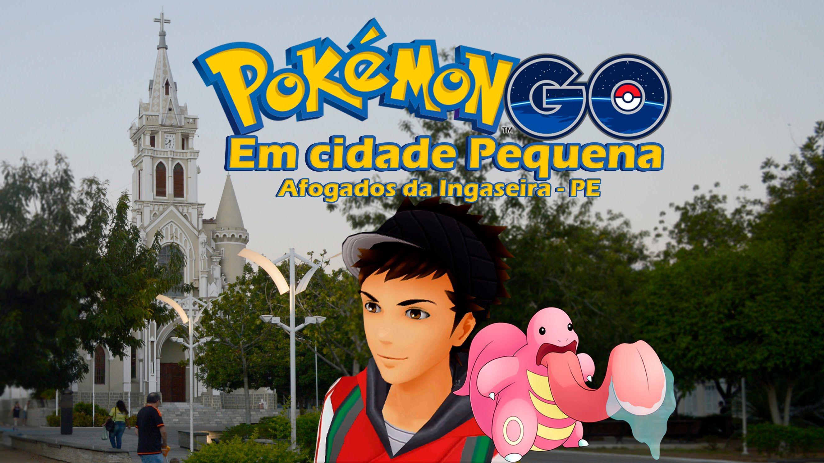 Jogando Pokémon GO em cidade pequena - Afogados da Ingazeira - Lickitung...