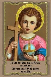 Child Jesus Holding The World Holy Child Catechism Religious