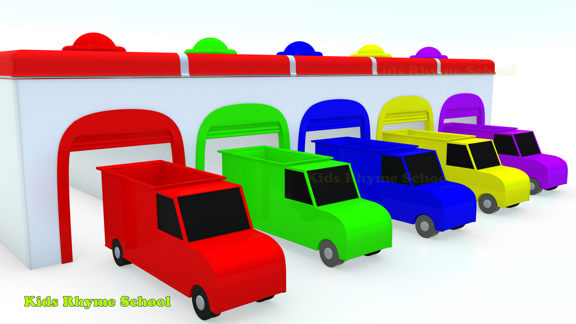 Color Trains For Children | Learn colors with Truck | Basic Colors ...