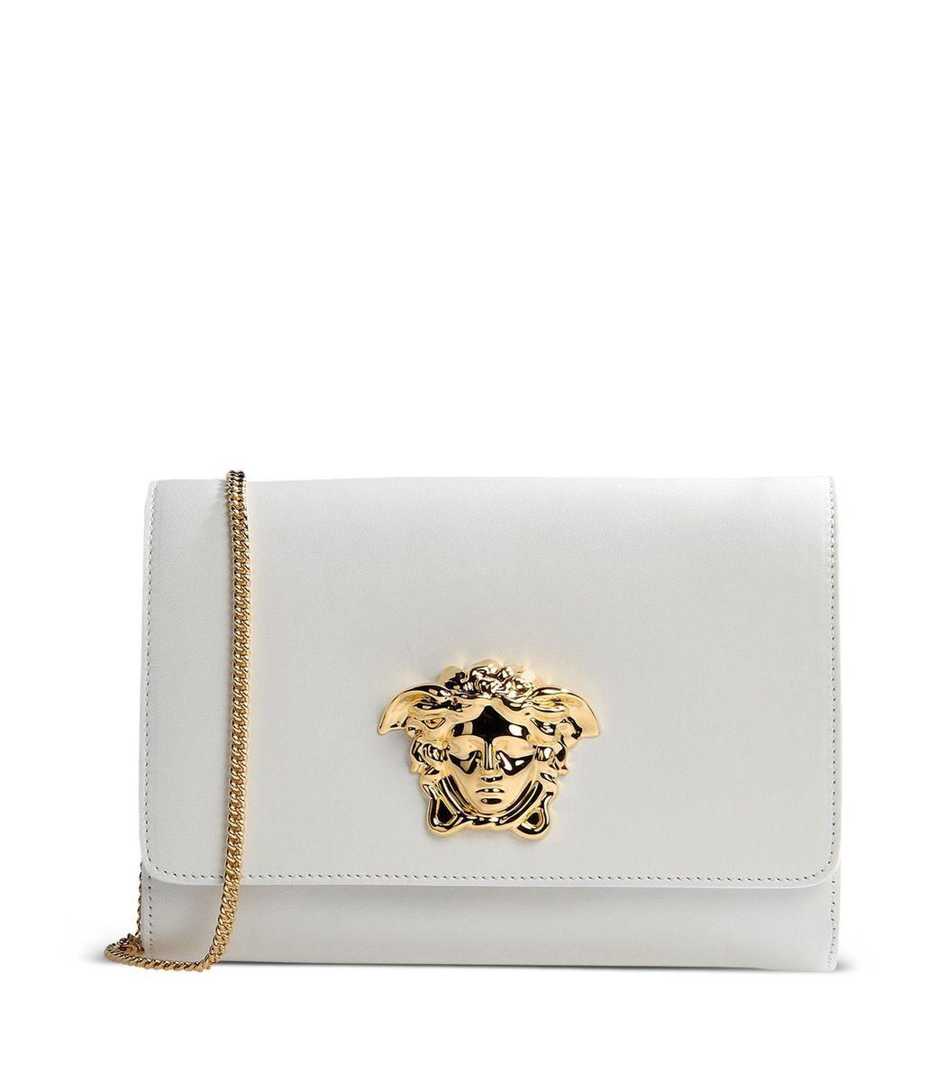 7777ae5426 Versace White Medusa Clutch | Bags | Versace purses, Versace bag ...