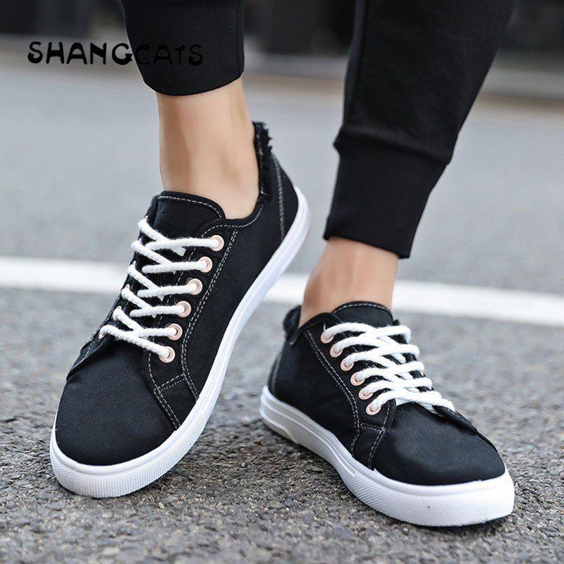 SHANGCATS Canvas Shoes 2018 Solid Color