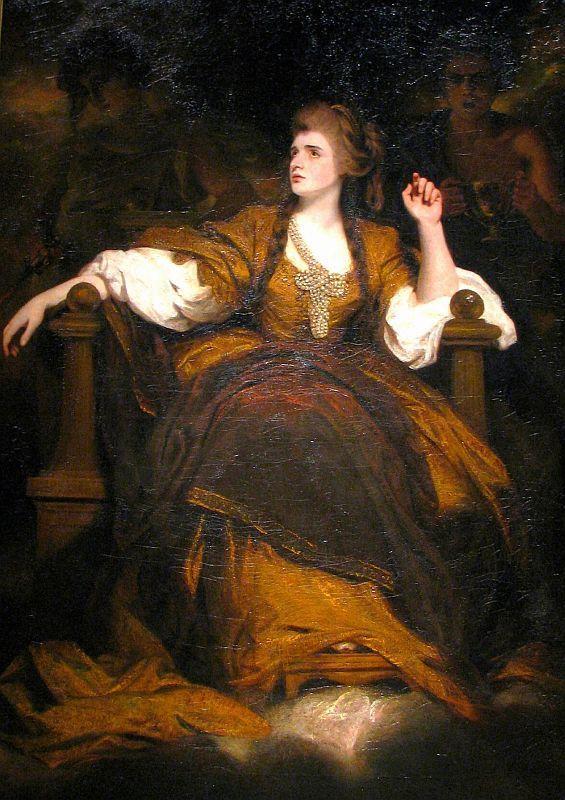 """Mrs. Siddons as the Tragic Muse"" - Joshua Reynolds - 1784"