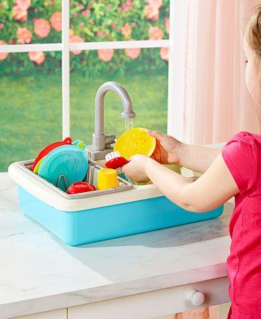 20 Pc Working Kitchen Sink Playset Playset