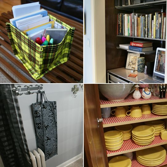 Apartment Therapy Kitchen Shelves: 6 Sensational Uses For Oilcloth