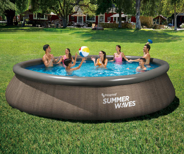 Summer Waves 16 X 42 Easy Set Pools Blow Up Pool Summer Waves