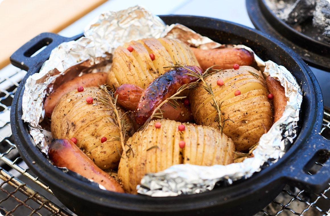 キャンプ料理 ハッセルバックポテトのレシピ 料理 レシピ レシピ 料理