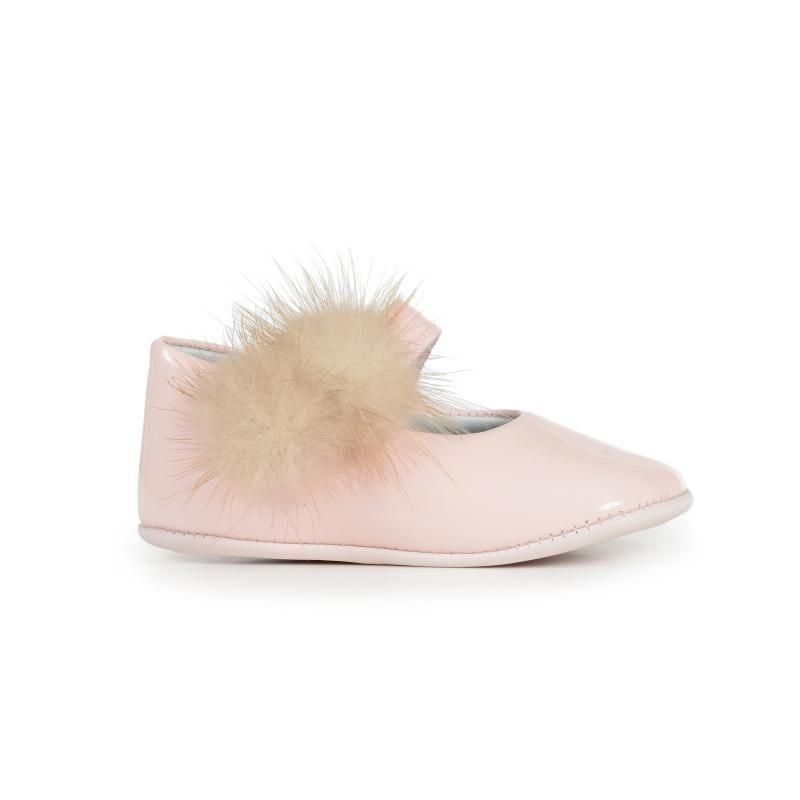 85a3c883e7b3 My-First Blush Patent Baby Mary Janes with Pom-Poms Cc Shoes