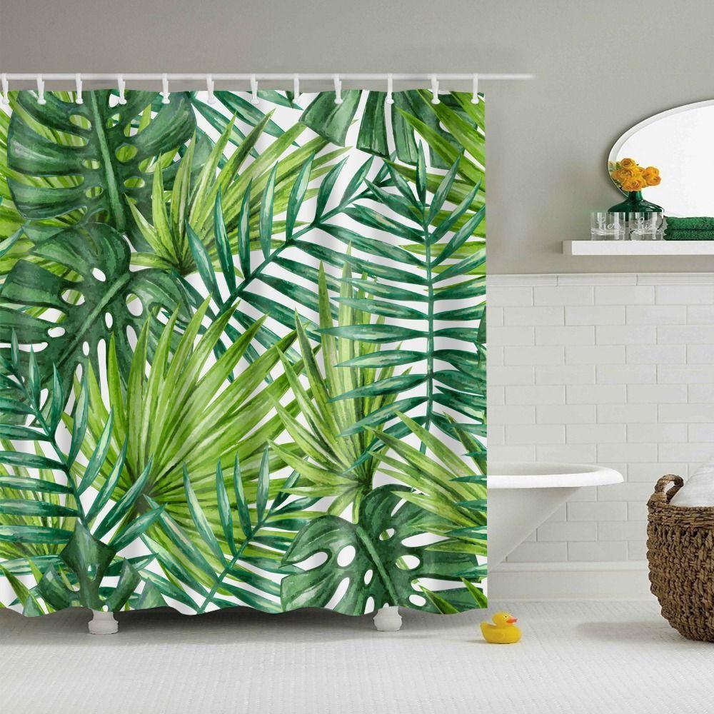 Green Rainforest Shower Curtain Waterproof Duschvorhang