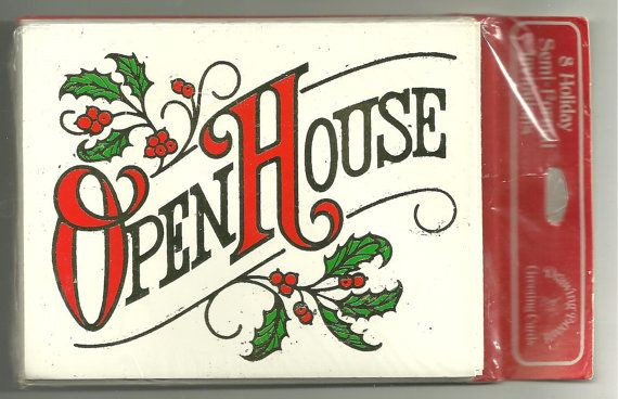 Vintage Christmas Holiday Open House Invitation by turnabout01