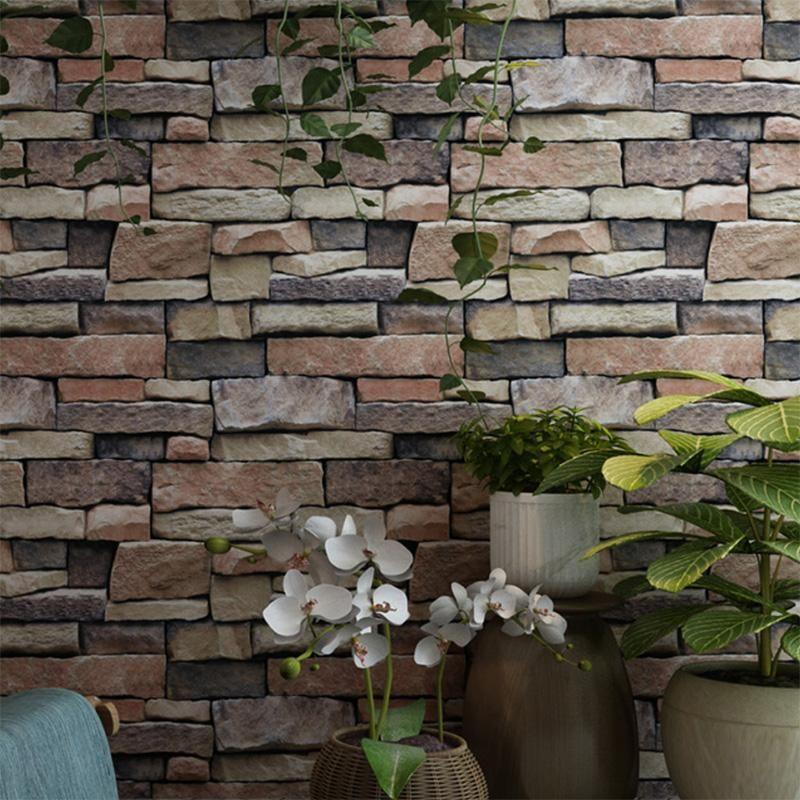 Retro 3d Effect Brick Vinyl Wall Paper Papel De Parede 3d Stone Living Room Restaurant Background Home Dec Brick Wallpaper Brick Wallpaper Roll Stone Wallpaper