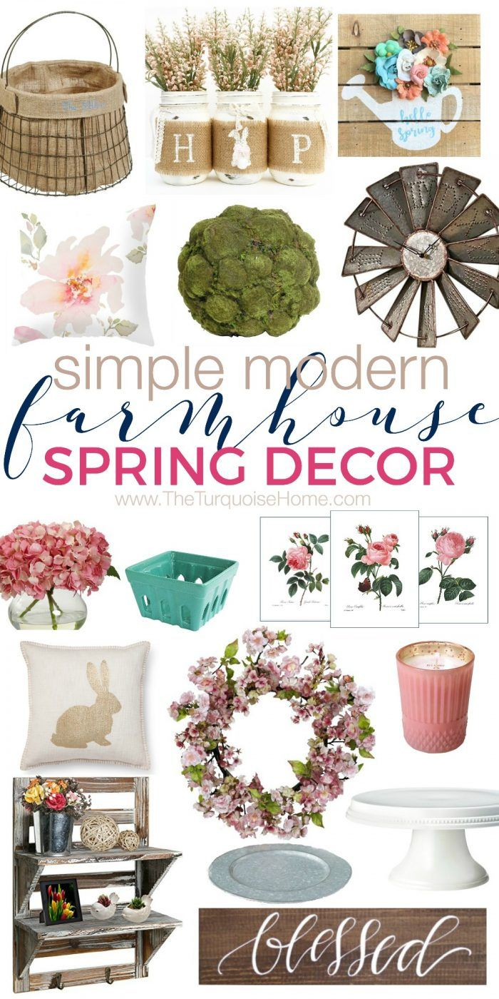 Cheap Spring Decorations: Simple & Modern Farmhouse Spring Decor On A Budget