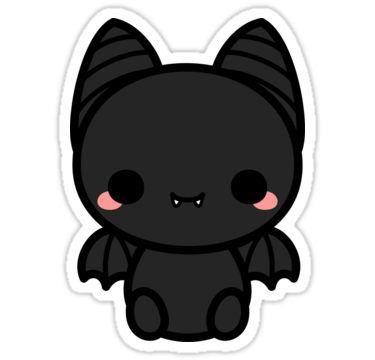 'Cute spooky bat' Sticker by peppermintpopuk in 2020