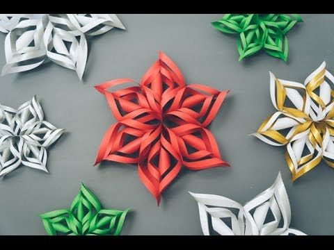 How To Make A 3d Paper Snowflake 3d Paper Snowflakes Paper Snowflakes Diy Crafts