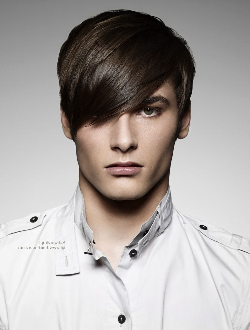 Long Hairstyles With Bangs For Men Short Menus Haircut With Long