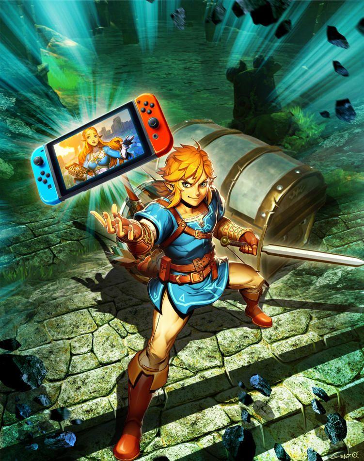 Nintendo Switch Zelda Breath Of The Wild By Genzoman Breath Of