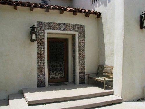 tiled door entry