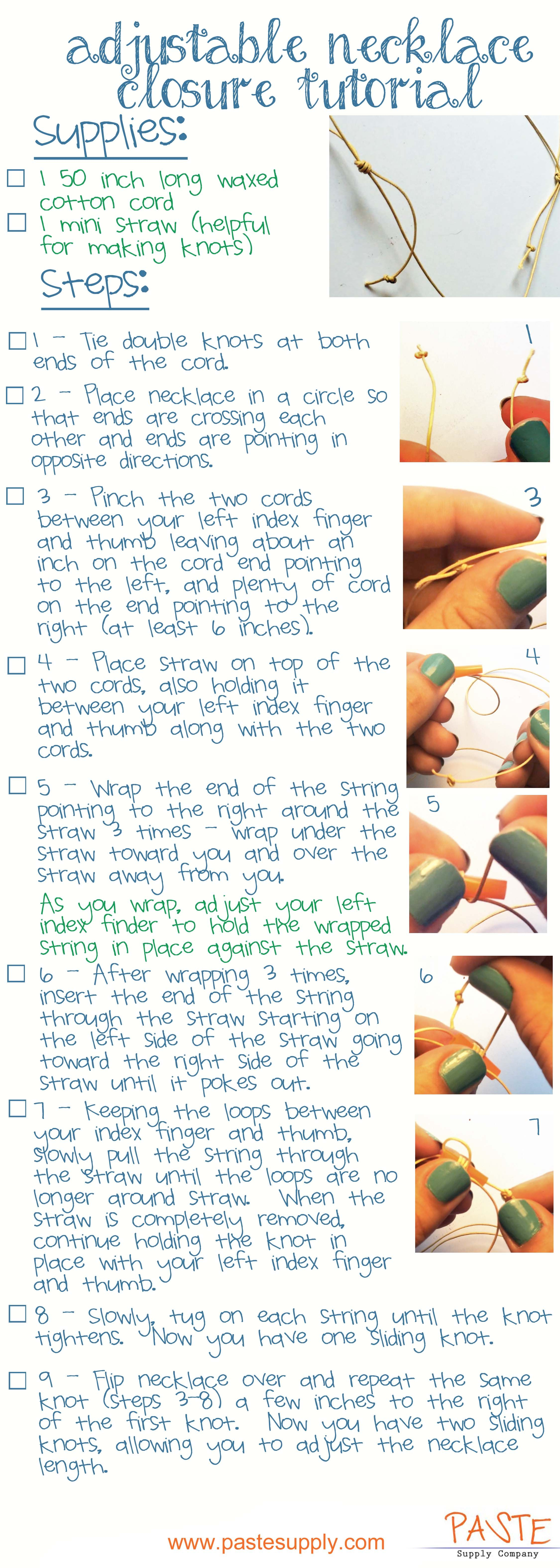 Adjustable double sliding knot tutorial for necklaces and adjustable double sliding knot tutorial for necklaces and bracelets baditri Image collections