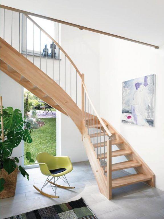 Treppe aus hellem holz offene raumgestaltung fuchs treppen