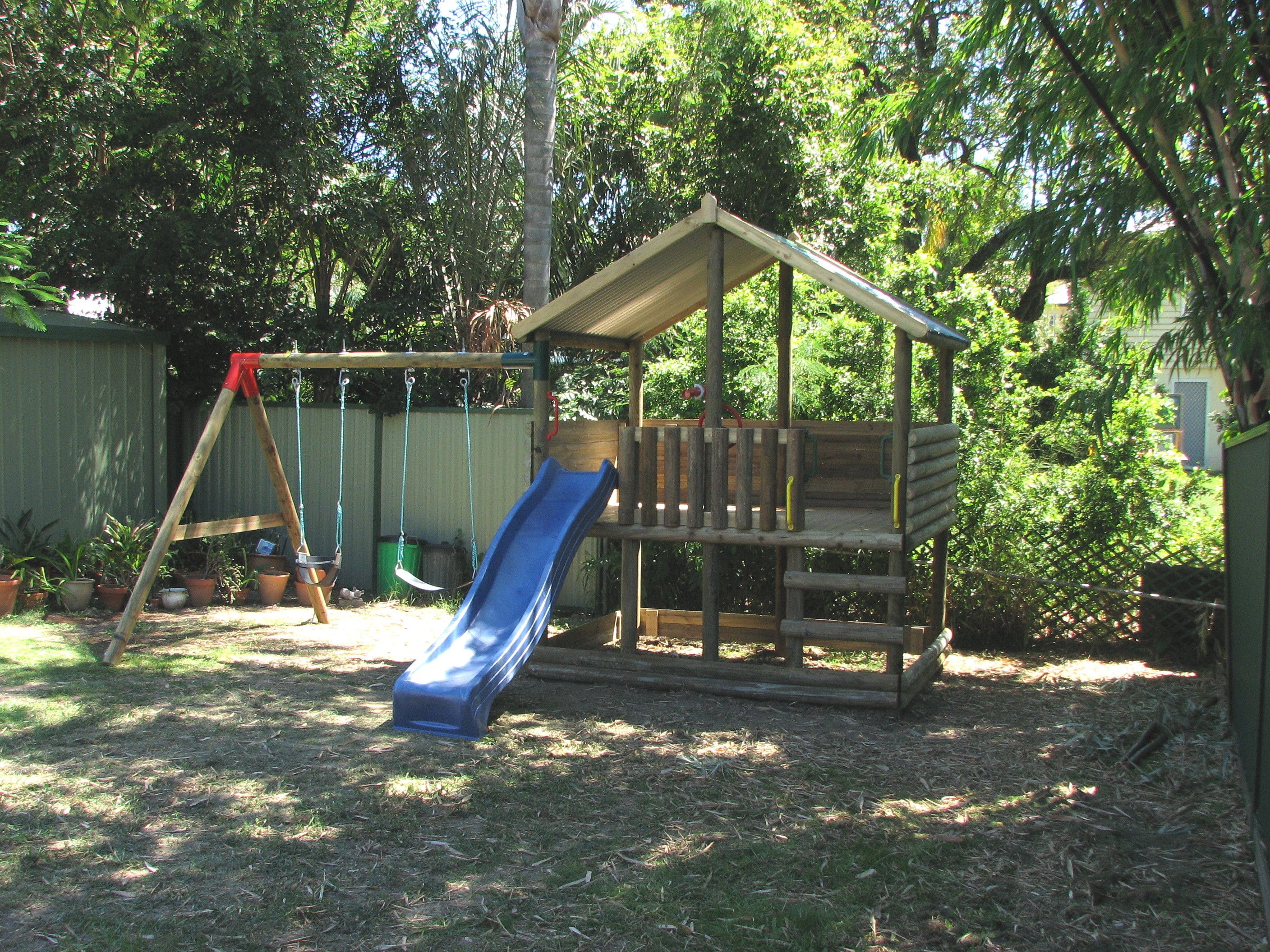 Fort lytton diy flat pack extra for swing set for Homemade forts outdoors