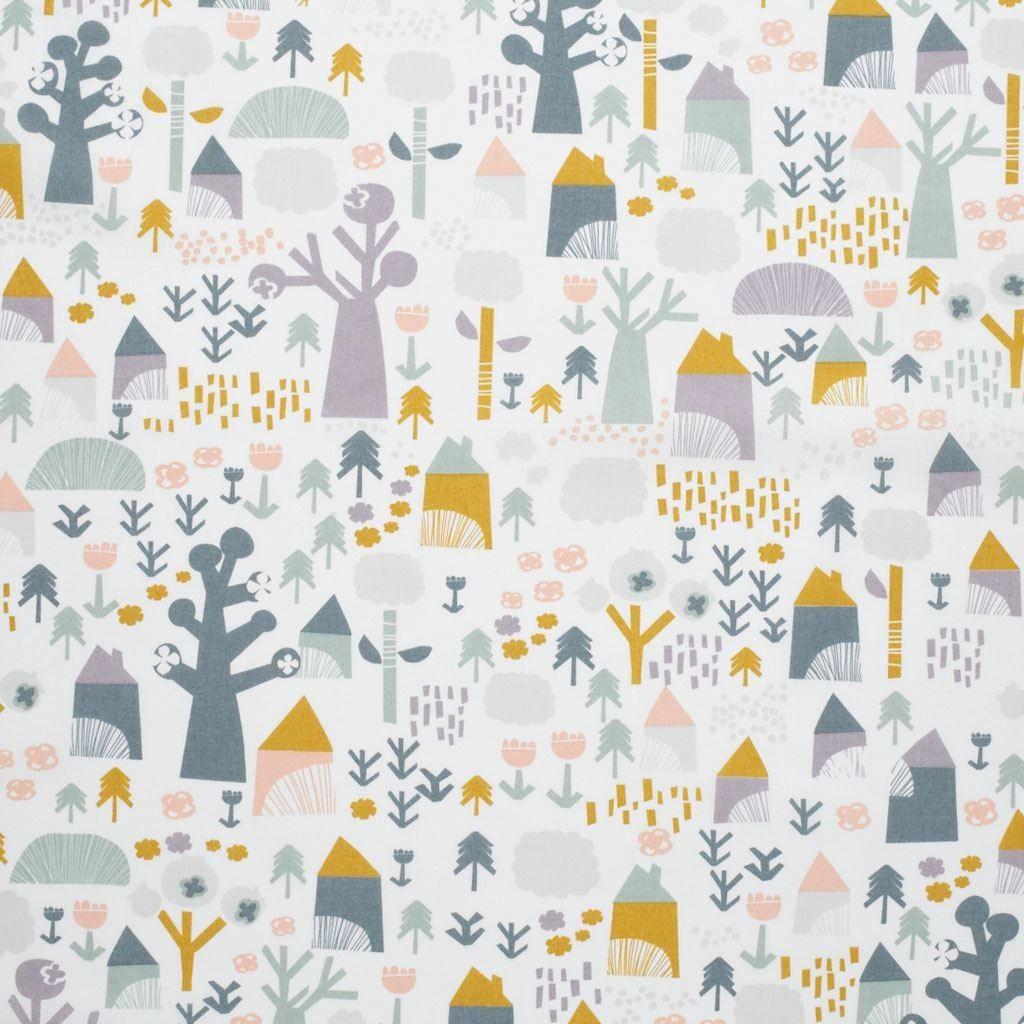 tissu percale cabane tissus tissu tissus et tissu jaune. Black Bedroom Furniture Sets. Home Design Ideas
