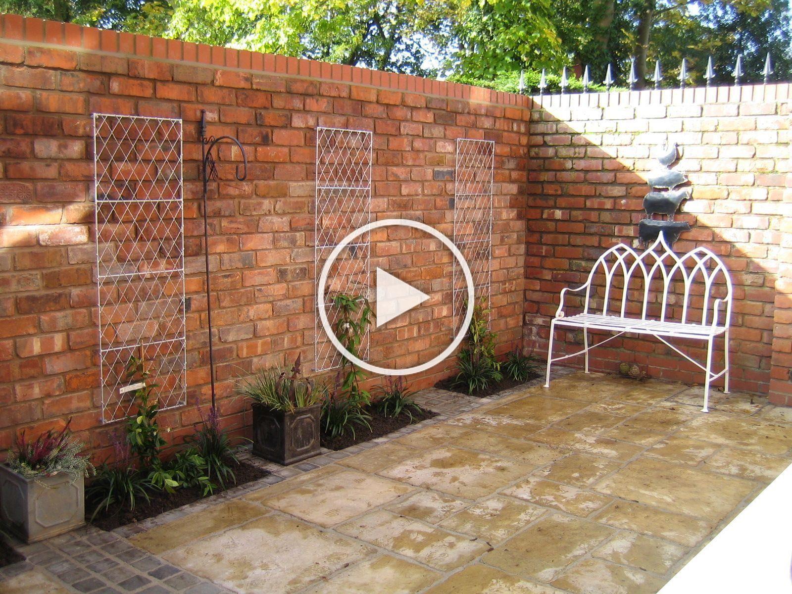 10 Garden Brick Wall Design Ideas Incredible And Stunning In 2020 Brick Wall Gardens Brick Garden Small Courtyards