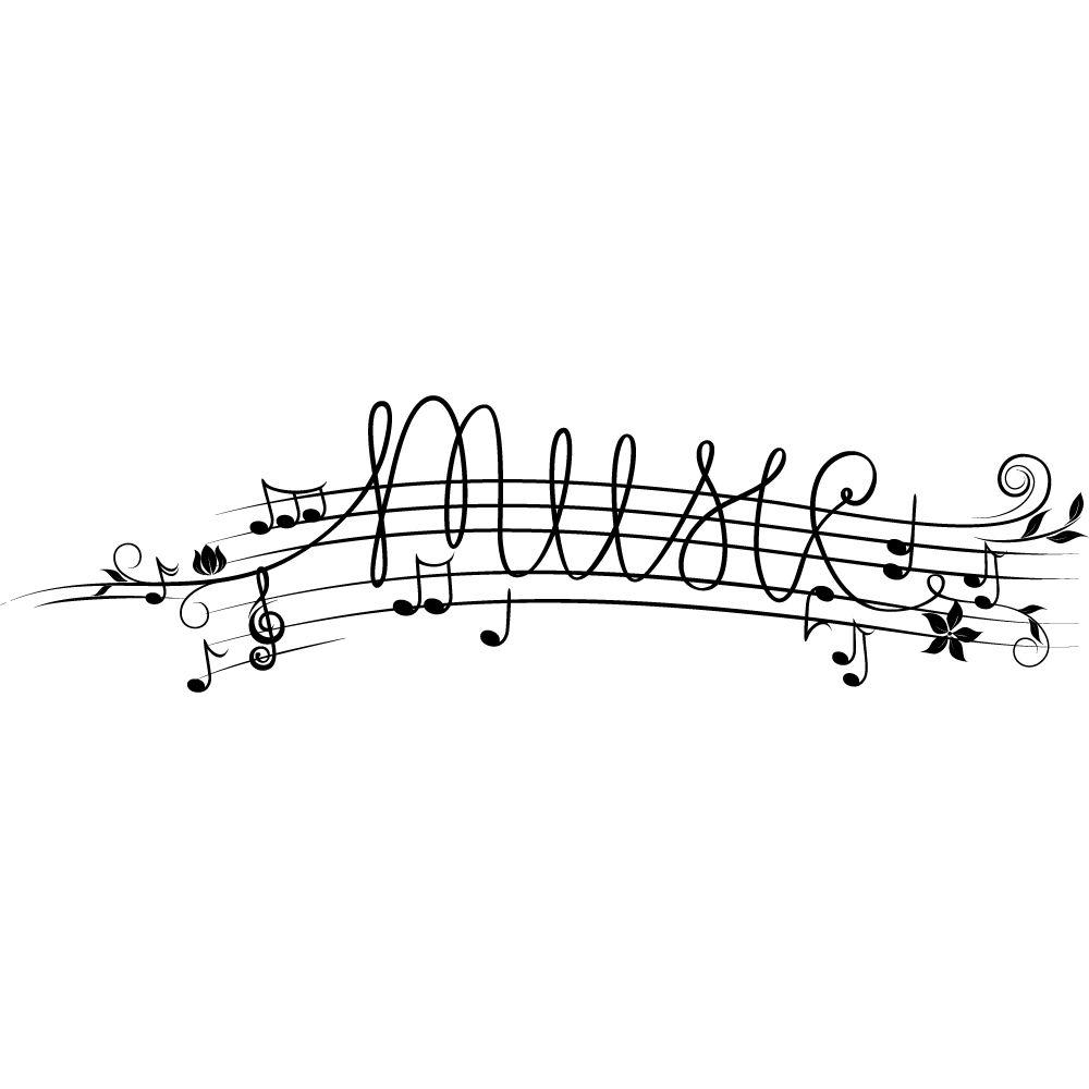 Vinilos Folies Vinilo Decorativo Pentagrama Musical More Cosas