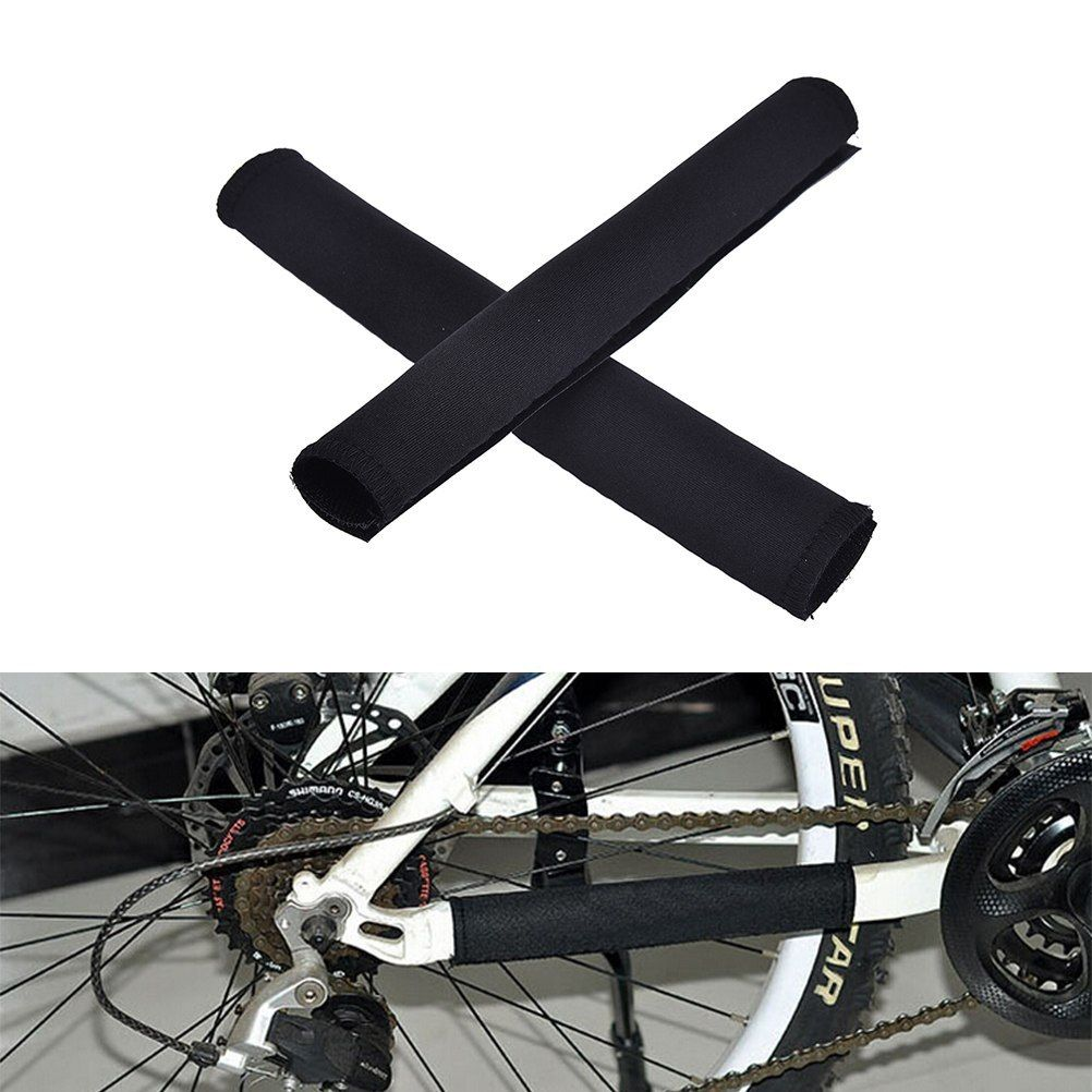 2pcs Bike Bicycle Biking Chain Keep Body Protector Tube Wrap Cowl