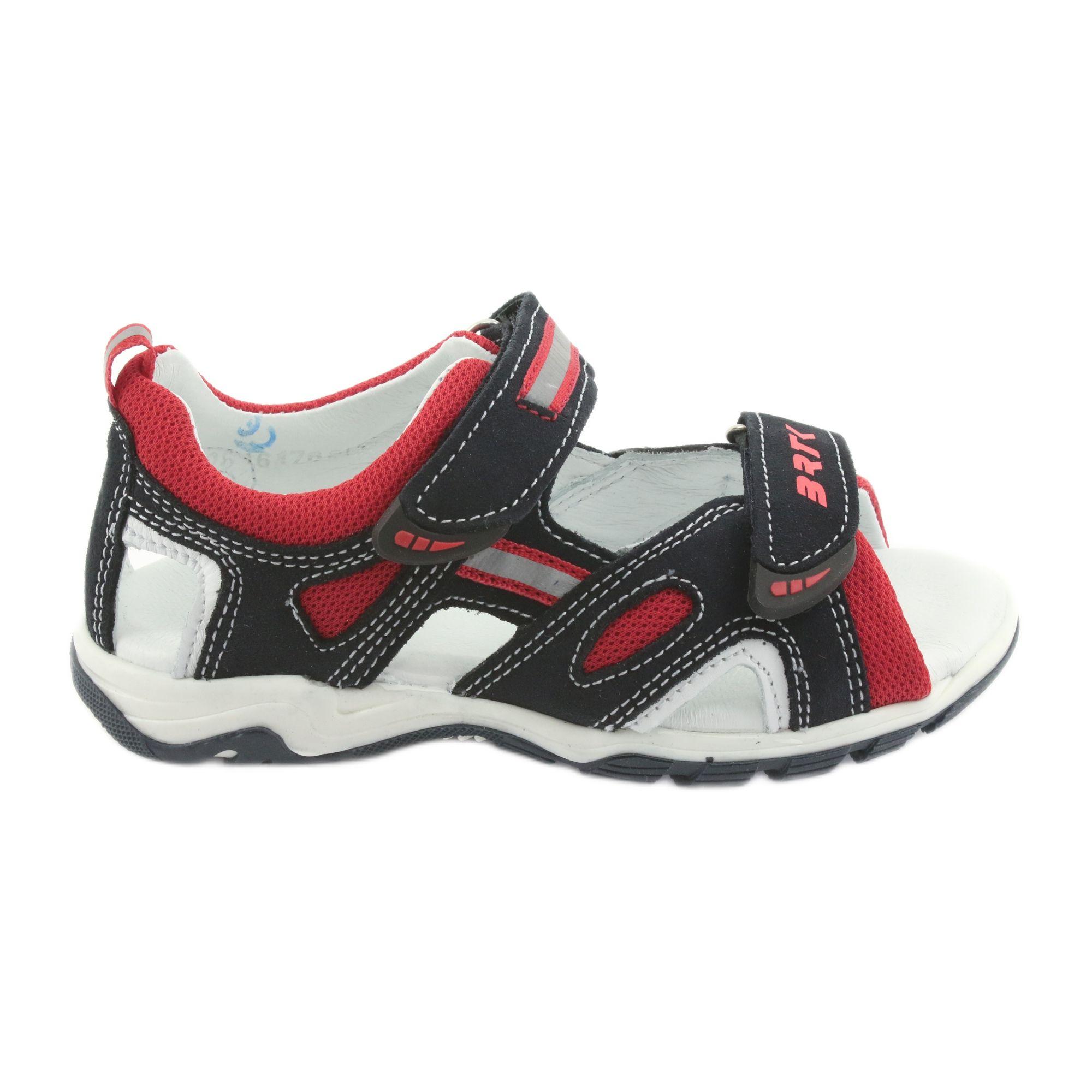 Sandalki Chlopiece Rzepy Bartek 16176 Granatowo Czerwone Szare Granatowe Stylish Sandals Kid Shoes Boys Sandals