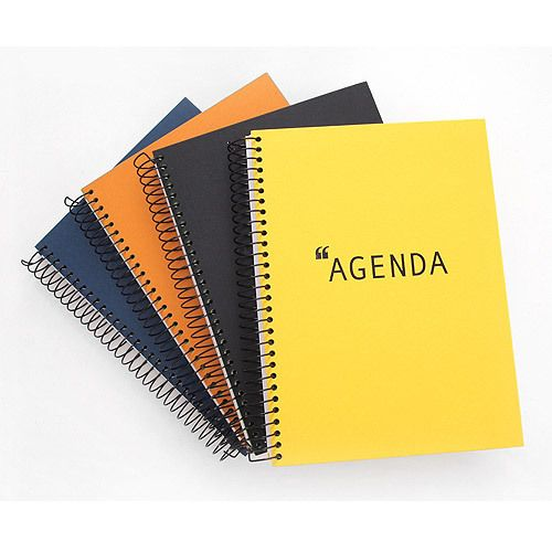 Agenda wirebound spring lined notebook by 2young. The Agenda notebook features stylish design and 140 lined pages great for the home school or office.