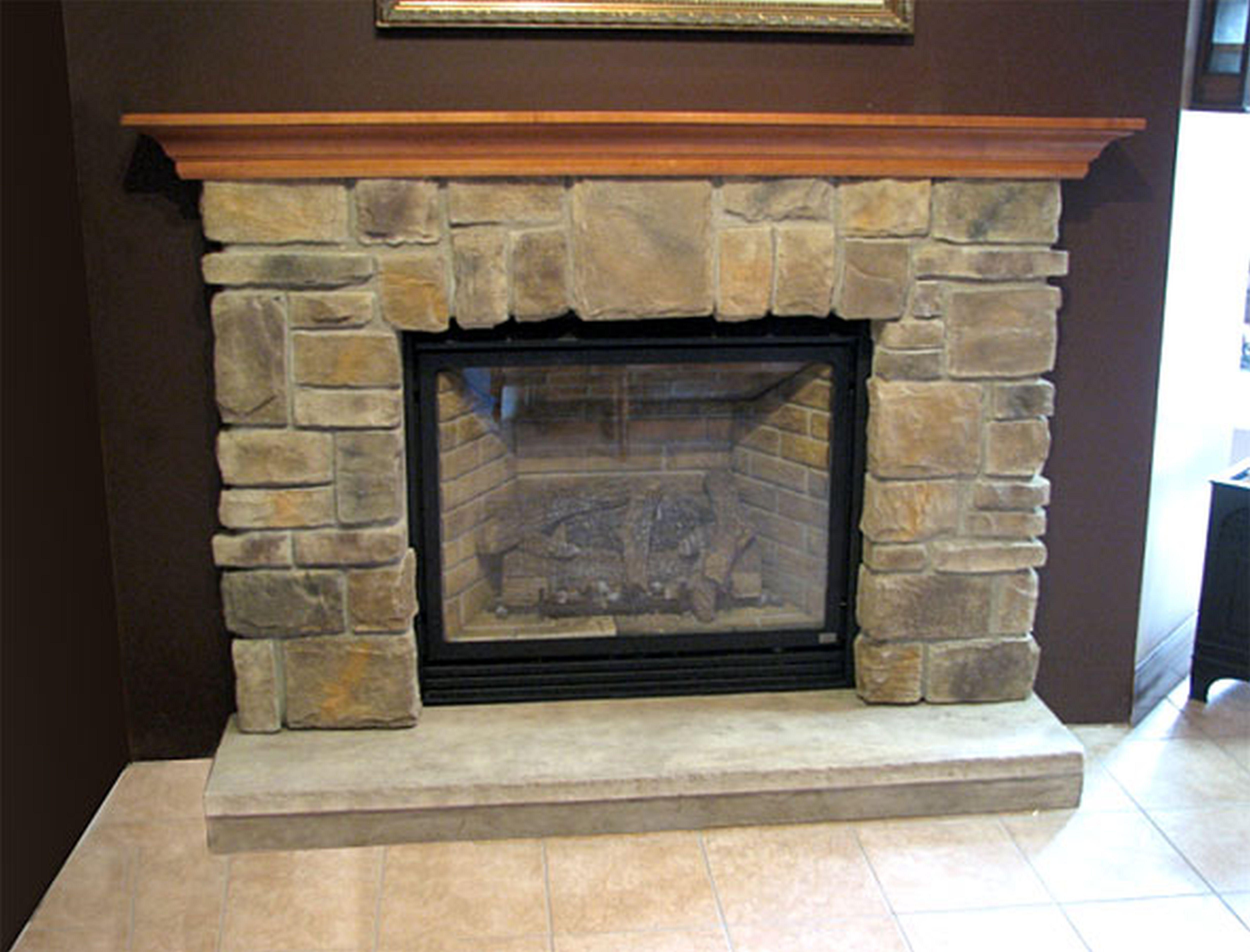 Stack stone fireplace images fireplace pinterest mantel ideas