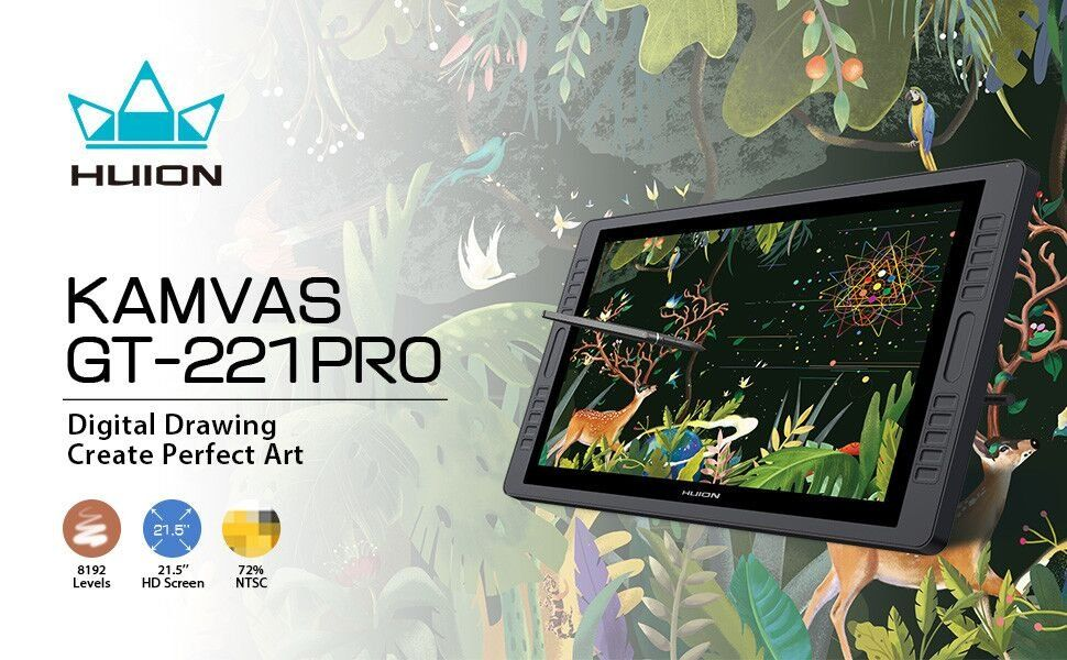 Huion KAMVAS GT-221 Pro 22 1 inch HD Pen Display Tablet