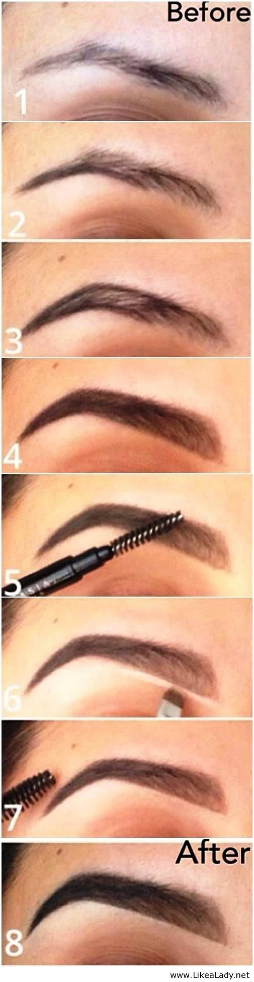 How to fill your eyebrows and make them look thicker -# ...
